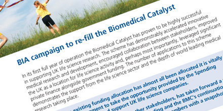 Biomedical Catalyst update