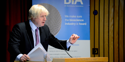 Boris Johnson, Mayor of London, at the BIA UK Bioscience Forum