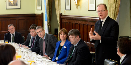 George Freeman speaking to BIA members earlier this year