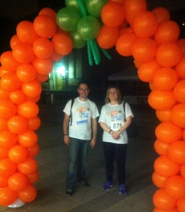 Steve Bates and Michele Acton completing the 18 mile walk