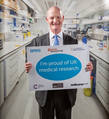 The former Science Minister, David Willetts MP, shows his support at the APPG on Medical Research's Summer Reception