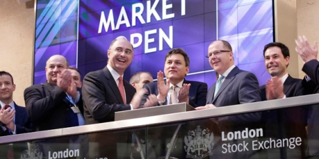 Kit Malthouse and George Freeman at the London Stock Exchange ahead of our Future of Healthcare Investor Forum