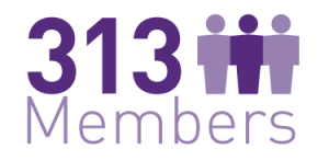 313 members
